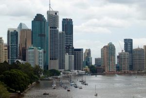 Highrise buildings on the banks of the brisbane river
